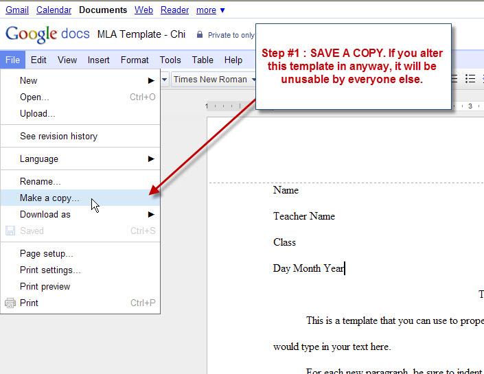 mla outline template google docs